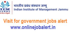 IIM Jammu Non-Faculty Jobs